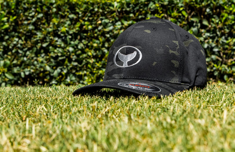 Black Camo-Print Classic Fit Hat with Wyland Embroidered