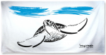 Wyland Sumi-e Sea Turtle Beach Towel