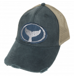 Distressed Trucker Hat Blue