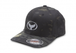 Black Camo-Print Classic Fit Hat with Wyland Embroidered Logo
