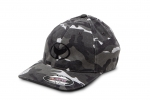 Soft-Washed Silver Camo-Print Hat with Wyland Embroidered Logo