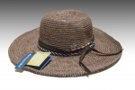 Coffee Tint Crochet Raffia Sun Hat