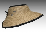 Natural Raffia Roll-Up Travel Sun Visor