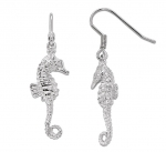 Wyland Sea Horse Dangle Earrings - Small