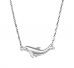 Wyland Dolphin Necklace with Chain - Med