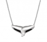 Wyland Whale Tail Necklace with Chain