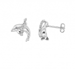 Wyland Dolphin Earrings CZ - XXS