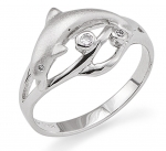 Wyland Dolphin Ring - Size 6