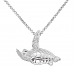 Wyland Flying Turtle Necklace