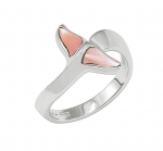 Wyland Dolphin's Tail Ring with Mother of Pearl in Sterling Silver - Size 6