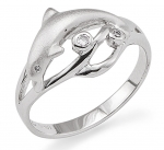 Wyland Dolphin Ring - Size 7