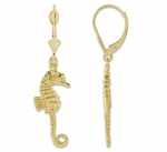 14K Seahorse Earrings - Small