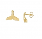 14K Whale's Tail Earrings - XS