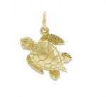 14K Sea Turtle Pendant - XS