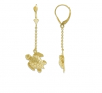 14K Sea Turtle Earrings - XS
