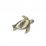 14K Yellow Gold 'Flying' Sea Turtle Pendant