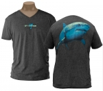 Shark, Charcoal, Men's V-Neck Tee