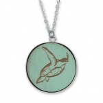 Wyland Sumi-e Sea Turtle Necklace