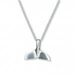 Wyland Sterling Silver Small Whale Tail Pendant Necklace