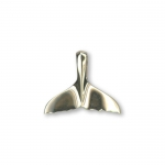 14K Gold Small Whale Tail Pendant