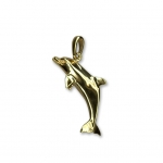14K Single Dolphin Pendant