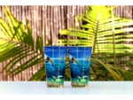 Wyland 'The Littlest Mermaid Rides Again' Glossy Pint Glass -2pc Set
